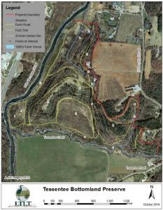 Tessentee Bottomland Preserve map