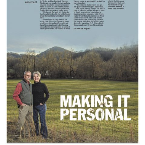 Asheville Citizen-Times: Land trust director gets personal with conservation