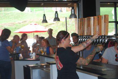 Serving Needmore Ale